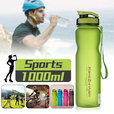 1000ML Portable Outdoor Sports Water Bottle Leak Proof Tour Hiking Camp Bike Cup
