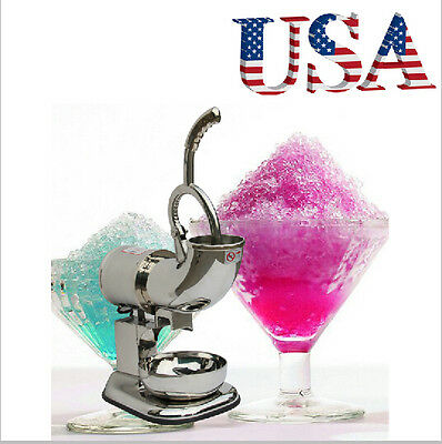 USA Electric Ice Shaver Crusher Snow Cone Maker Machine Stainless Steel 110V