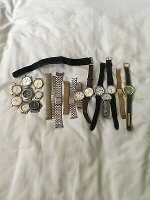 Job Lot Of Gents Watches---Spares Or Repair
