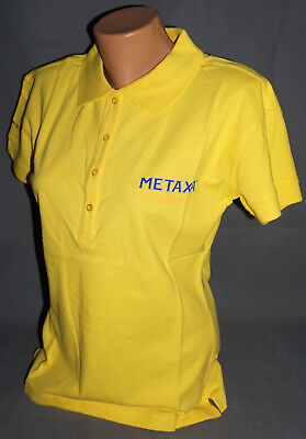 Metaxa Weinbrand Damen Woman Women Polo Shirt Hemd Gr. L Large Gelb Blau NEU OVP