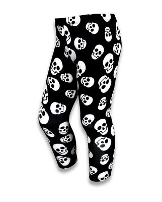 Six Bunnies Whole Lotta Skulls Leggings Kids Pants Gothic Black Cool Punk Alt