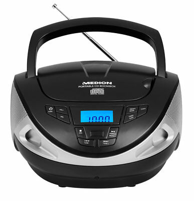 MEDION LIFE E65157 MD 46012 Boombox Radio UKW CD Player LC-Display AUX schwarz
