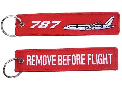 Boeing 787 Remove Remove Before Flight Key Ring Luggage Tag