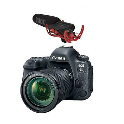 Canon EOS 6D Mark II DSLR with 24-105mm f/3.5-5.6 IS STM Lens W/Shure VP83F Mic