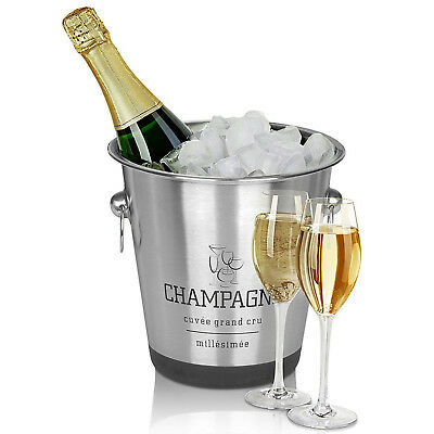 Stainless Steel French Silver Champagne Wine Bucket Punch Drink Ice Cooler Party