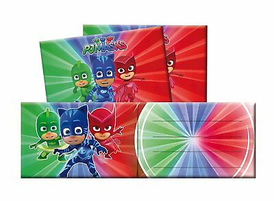 Pack 6 Invitaciones Pj Masks (14281)