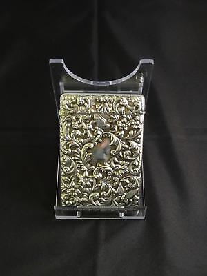 Antique Edwardian Silver Card Case, London, Goldsmiths & Silversmiths Co., 1903