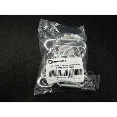 Lucky Line 46193 LG C-Clip Aluminum, Silver 10 Pack