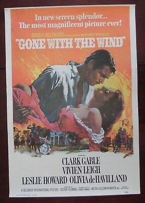 Collectors!  Gone With the Wind  1976 Reprint Movie Poster