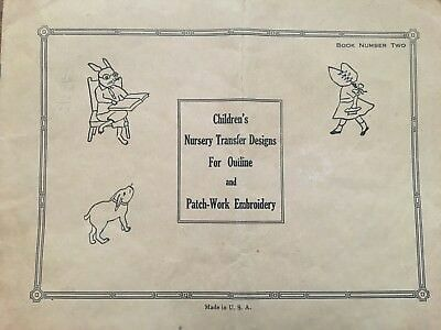 Antique Vintage Children's Nursery Transfer Designs for Outline and Embroidery