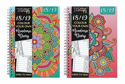 Colour Your Own 2018 2019 A5 Academic Week to View Diary Spiral Mid Year Diary