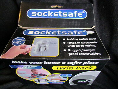 Socketsafe Twin Pack Lockable Twin Plug Electric Socket Cover