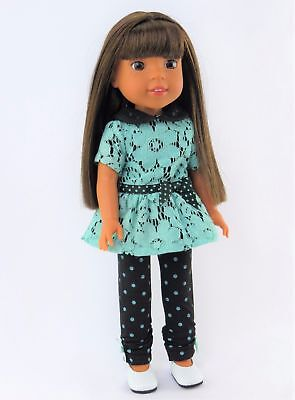 """Doll Clothes 14.5/"""" Pants Grey Top Horse Shoes Fits 14.5/"""" AG WELLIE WISHER DOLLS"""