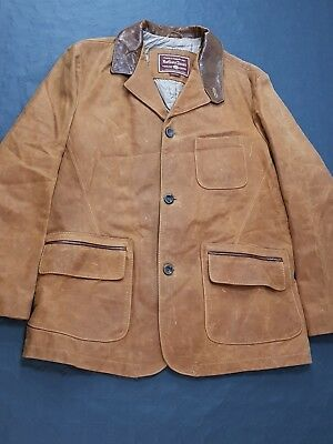 Giacca Marlboro Classics XL Biscotto Leather Country Jacket Vera Pelle