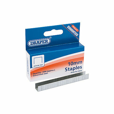 Draper 1000 x 10mm Heavy Duty Staples - PN:1010HD