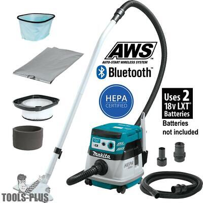 Makita XCV08Z 18V X2 LXT 2.1G HEPA Dry Dust Extractor/Vacuum AWS (Tool Only) New