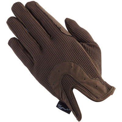 Shires All Day Unisex Gloves Everyday Riding Glove - Brown All Sizes