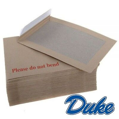 A5 SIZE PLEASE DO NOT BEND CHEAP HARD CARD BOARD BACKED MANILLA ENVELOPES BROWN