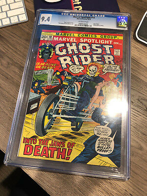 Marvel Spotlight #10 Cgc 9.4 High Grade Ghost Rider Ow Pages Bronze Age