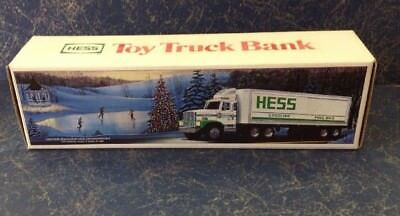 1987 HESS TOY TRUCK / TRUCK BANK with Barrels IN ORIGINAL BOX