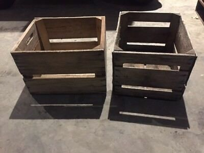 0ld apple crates, Hard wood, Wisconsin Orchard-1 Bushel 18'x15'x12'