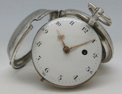 Ancienne Montre A Coq Gravee Fam 18Eme A Reviser Old Pocket Watch
