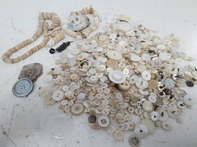 Large Unsorted Mixed Lot of Antique and Vintage Button-Bone, Antler, Shell