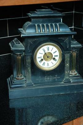 LARGE 14 DAY H.A.C Mantel Clock Spares Or Repairs
