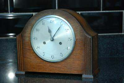Smiths Enfield Art Deco 1930s Mantel Clock Spares Or Repairs