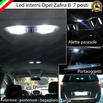 Kit Full Led Interni Abitacolo Opel Zafira B 7 Posti Completo + Led Targa 6000K