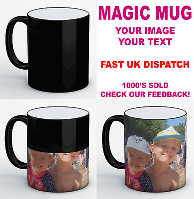 Personalised Heat Colour Changing Magic Mug - Great Birthday / Xmas Gift!!
