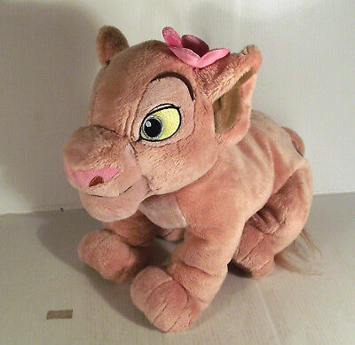 """Disney Store 12"""" Nala With Flower Soft Toy The Lion King Movie"""
