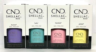 Cnd Shellac Gel Polish - CHIC SHOCK Collection .25oz/7.3ml Pick Any Color