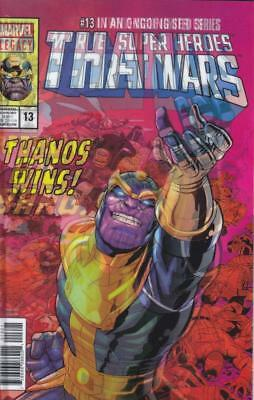 Thanos #13 Burrows Lenticular Homage To Secret Wars #12 Cosmic Ghost Rider Cates