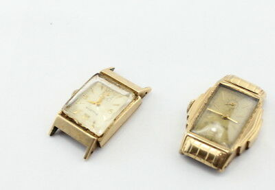 LOT OF 2 WATCHES VINTAGE BULOVA MENS ART DECO 1930s-40s MECHANICAL NO RES #277