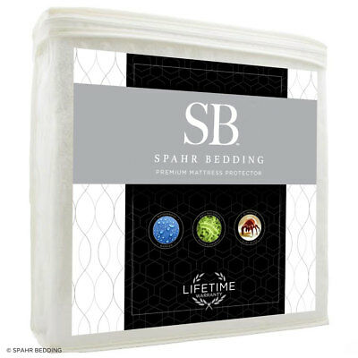 NEW Spahr Bedding Cotton Terry Mattress Protector, Crib - Cal King, Waterproof