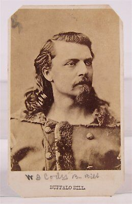 ca1875 WILLIAM F BUFFALO BILL CODY CDV PHOTOGRAPH AS YOUNG ARMY SCOUT AND ACTOR