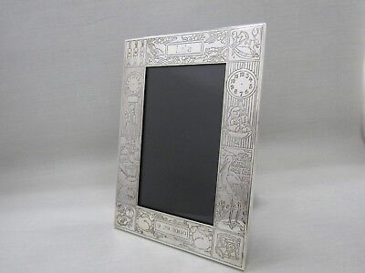 Tiffany & Co. Sterling Silver Children's Birthday Birth Record Picture Frame