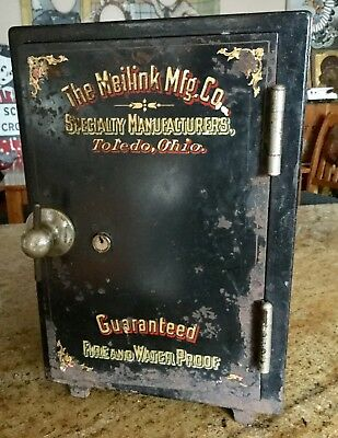 Antique Miniature Safe, Meilink, Toledo Ohio, Architectural Salvage, Rare