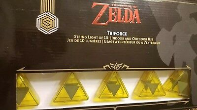 The Legend of Zelda Triforce Indoor Outdoor String Light Set* Gamestop Thinkgeek