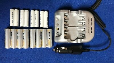 Car 12v #1 Smart Charger+16 of 8 AA & 8 AAA Rechargeable batteries*Stock Sale*