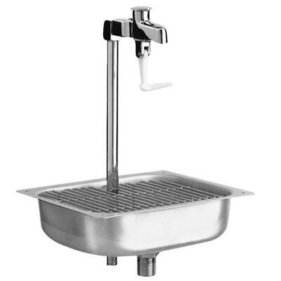 "Fisher Stainless Steel Glass Filler Station With Drop-in Sink 10"" Pedestal NSF"
