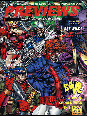 Previews Comic Catalog (Vol 3) #8 Jim Lee's WildC.A.T.S, Vampyre Wars + Inserts!