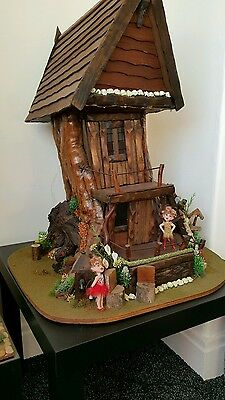 Solid Wood Crafted Fairy / Woodland House by Artist Roy Williams