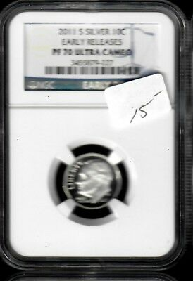 2011-S Silver Roosevelt Dime NGC PF 70 Ultra Cameo