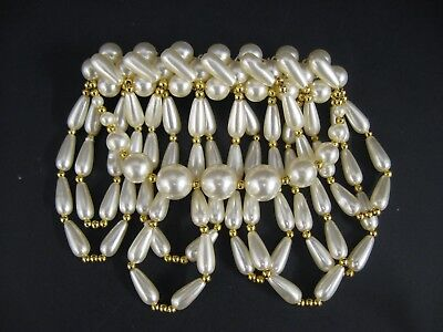 Vintage 80'S Fake Pearl barrette hairpiece BIG 80'S HAIRPIECE BARRETT JEWELRY