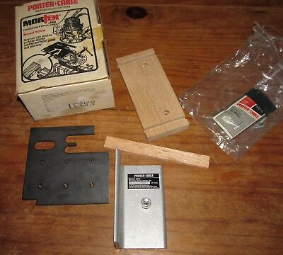 Porter Cable 5009 Mortise & Tenon (Morten) Jig In Box, Instructions & Ruter Bit