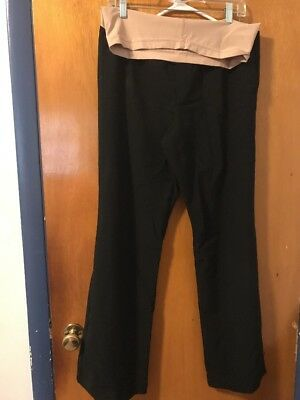 DUO Maternity Dress Pants Size L Black Trouser Style Career Wear