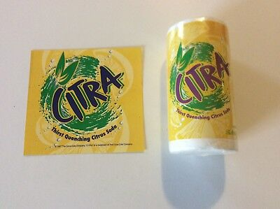 Coca Cola Collectible 1998 Citra Tee Shirt-New With POS Vendor Lable