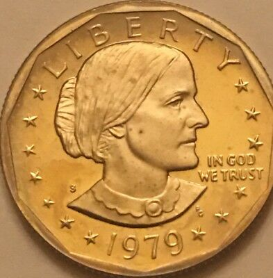 "1979-S Type 2 Cameo Proof Susan B. Anthony dollar. Type 2 Clear ""S"" Free SH"